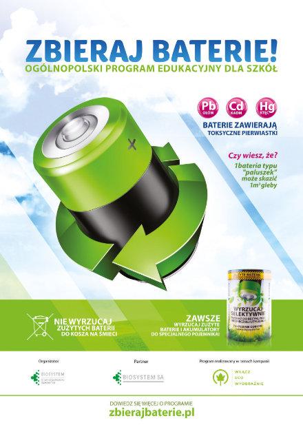 Zbieraj baterie - plakat